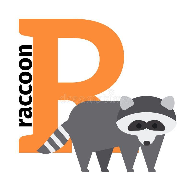 Lettera inglese R di alfabeto dello zoo degli animali royalty illustrazione gratis