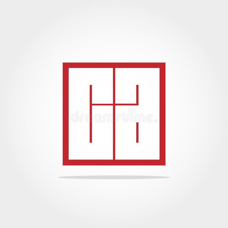 Lettera iniziale CA Logo Template Vector Design immagine stock libera da diritti