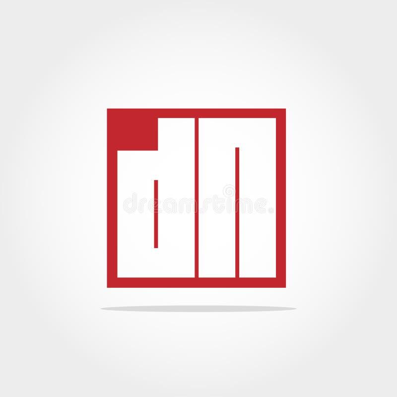 Lettera iniziale DN Logo Template Vector Design fotografie stock