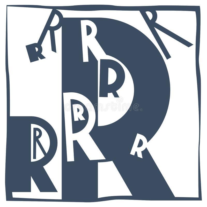 Lettera iniziale R immagine stock
