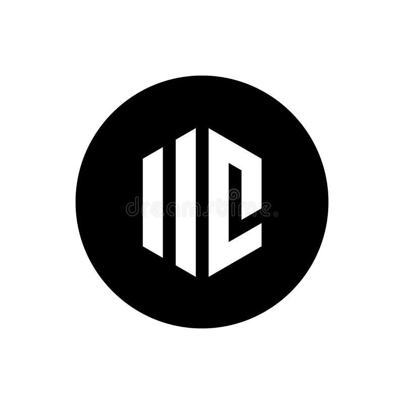 Lettera iniziale UC o IIC Logo Vector geometrico Icona creativa del monogramma di alfabeto, illustrazione vettoriale