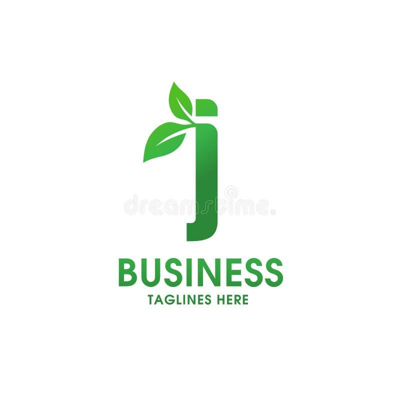 Lettera J con il logo della foglia royalty illustrazione gratis