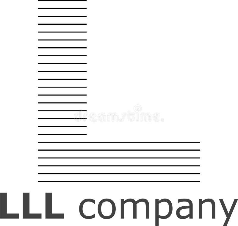 Lettera L logo a strisce immagini stock