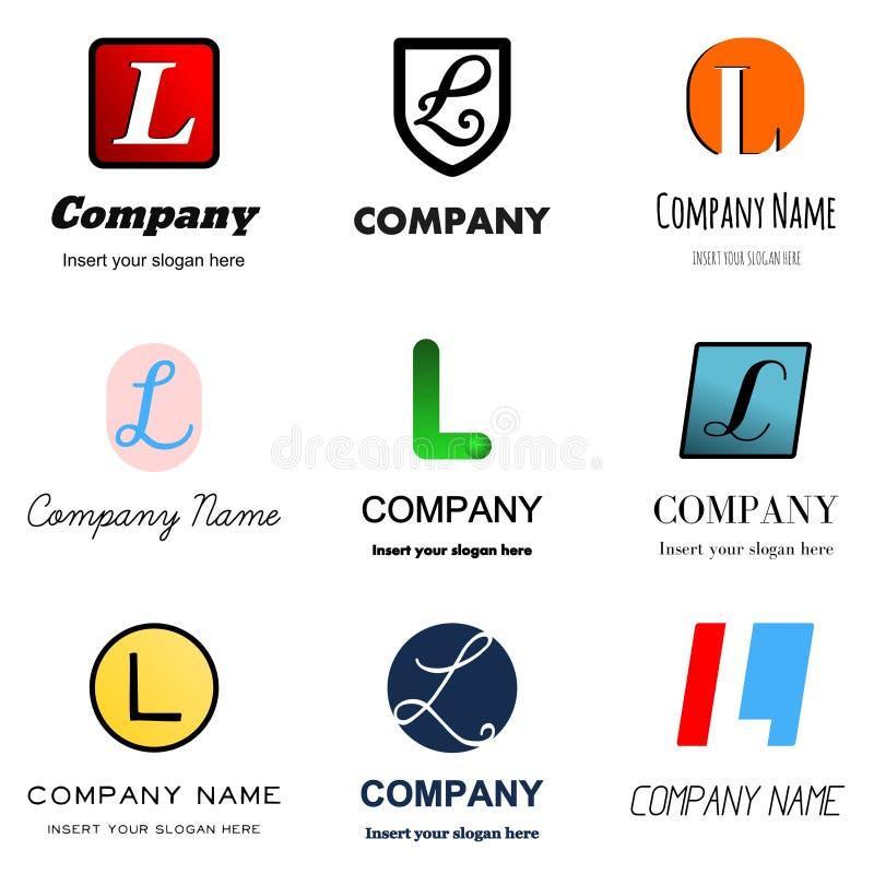Lettera L marchio illustrazione di stock