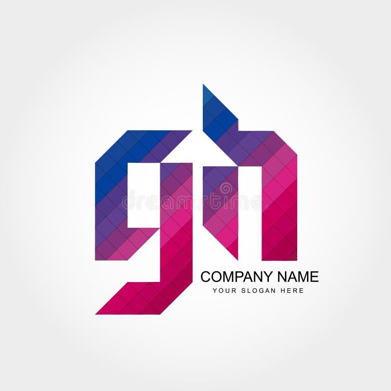 Lettera Logo Design di GH immagine stock libera da diritti