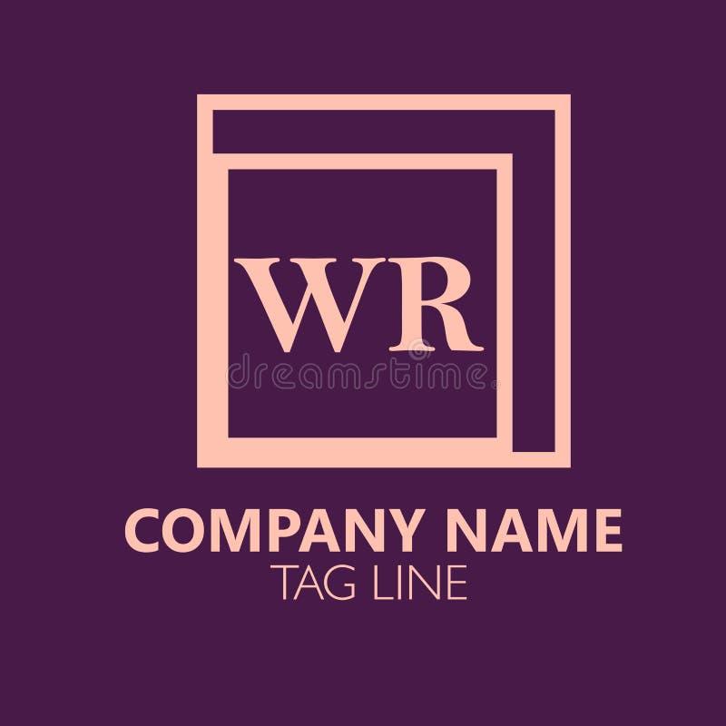 Lettera Logo Design di WR illustrazione di stock