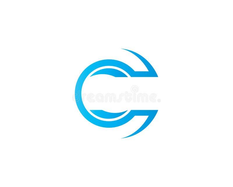 Lettera Logo Template di C fotografia stock libera da diritti