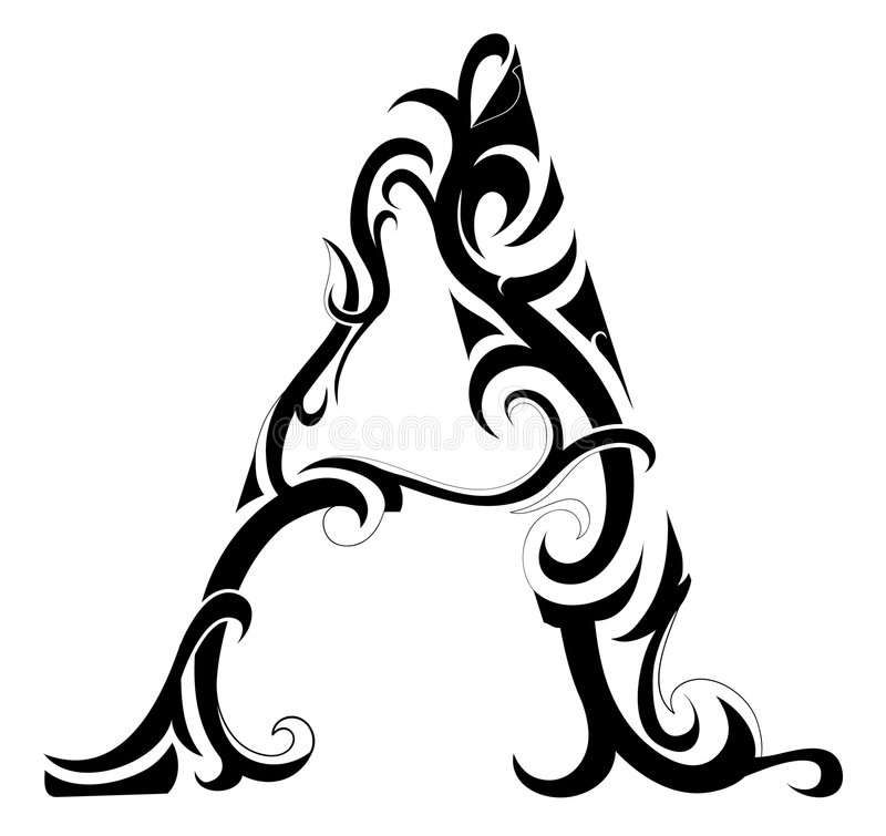 Lettera nell'arte tribale royalty illustrazione gratis
