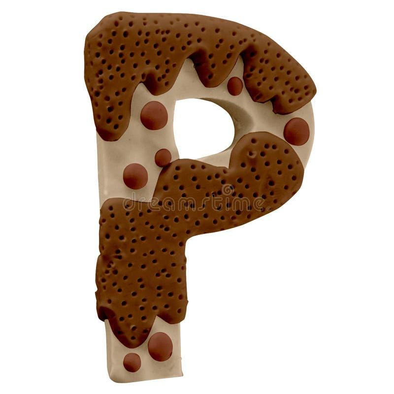 Lettera P Cake Font Cake Font Fabbricato a mano con plastica royalty illustrazione gratis