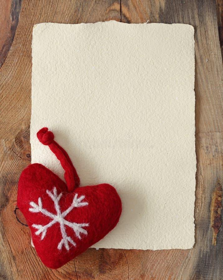 Lettera per Santa con vecchia pergamena fotografia stock