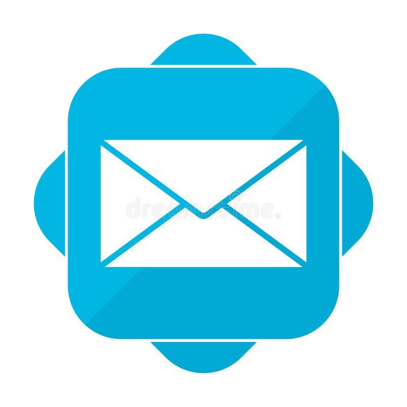 Lettera quadrata blu dell'icona illustrazione di stock