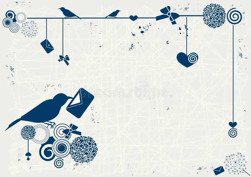 Lettera romantica illustrazione di stock