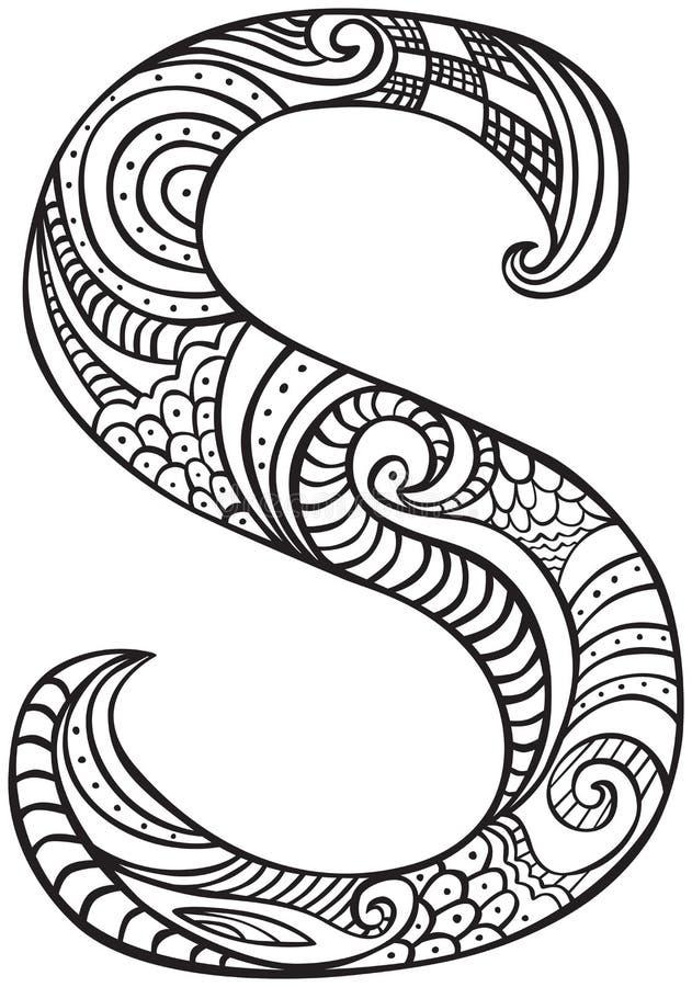 Lettera S illustrata royalty illustrazione gratis