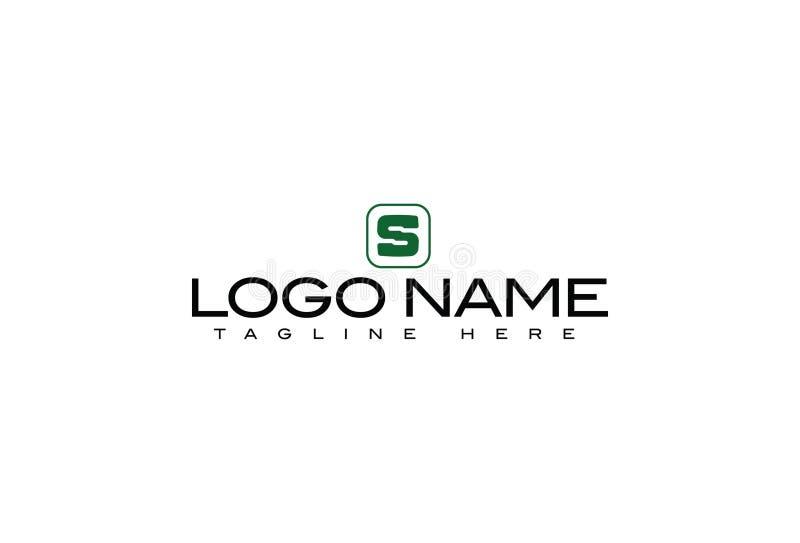 Lettera S Logo Design di alfabeto illustrazione vettoriale