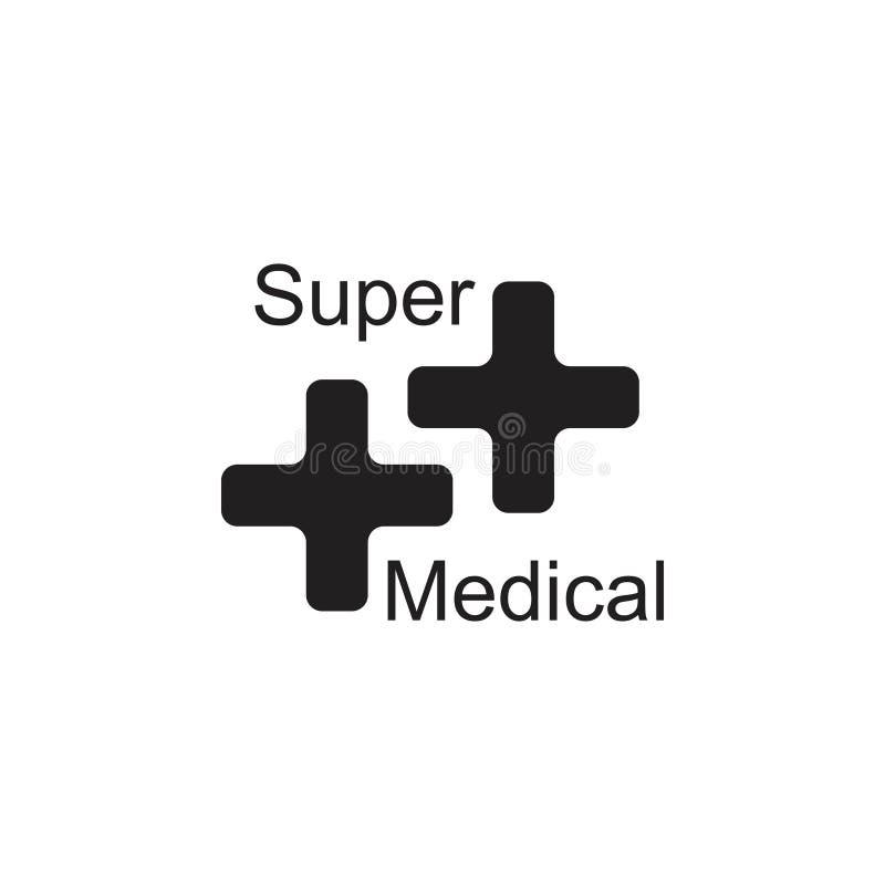 Lettera s più il vettore medico di logo illustrazione vettoriale