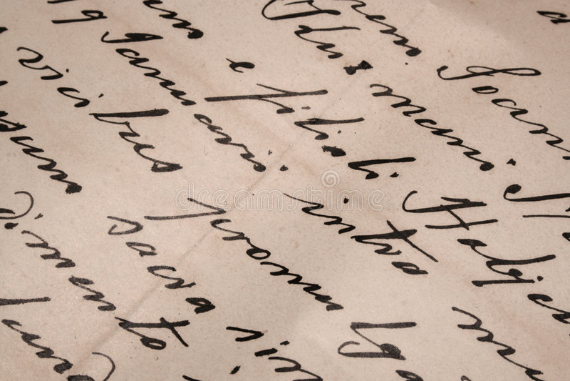 Lettera scritta a mano fotografia stock libera da diritti