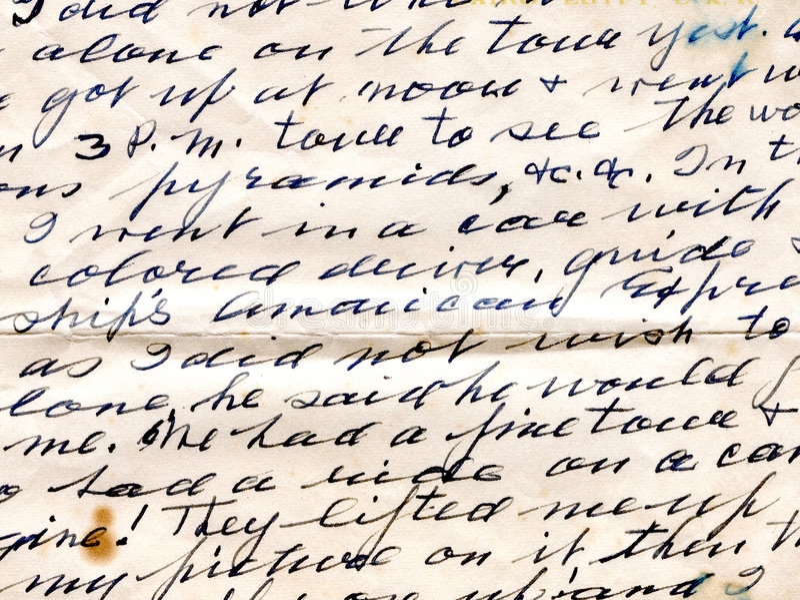 Lettera scritta a mano immagini stock libere da diritti
