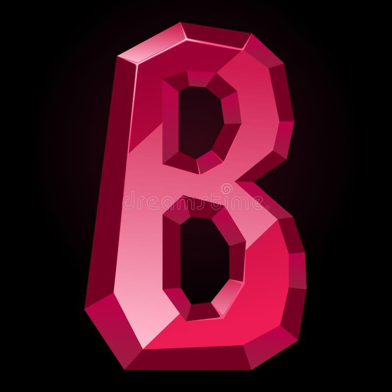 Lettera vermiglia B illustrazione di stock