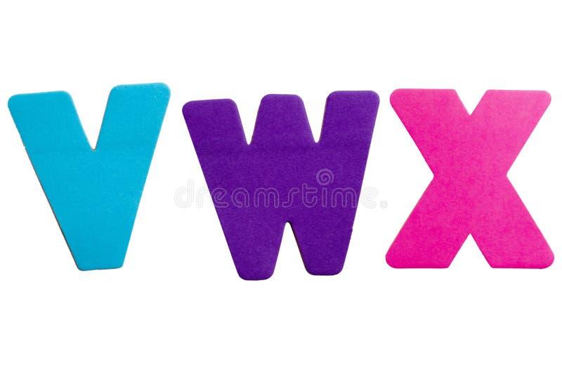Lettera VWX fotografia stock
