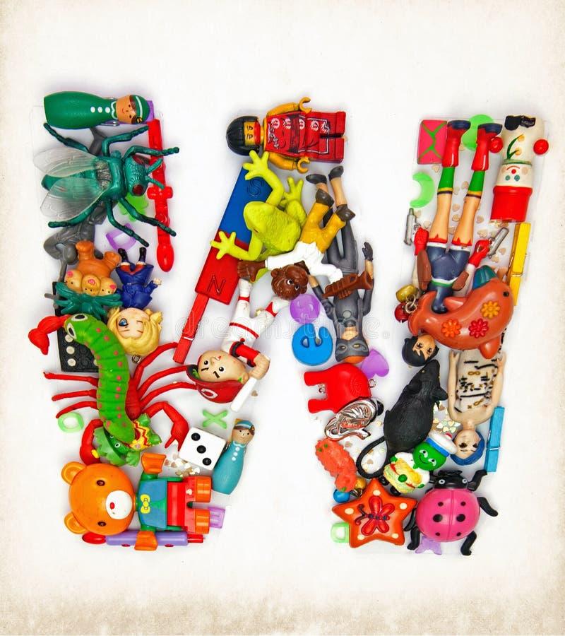 Lettera w dai giocattoli fotografie stock libere da diritti
