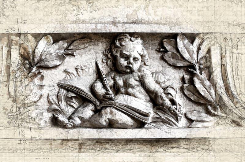Letteratura in pietra illustrazione vettoriale