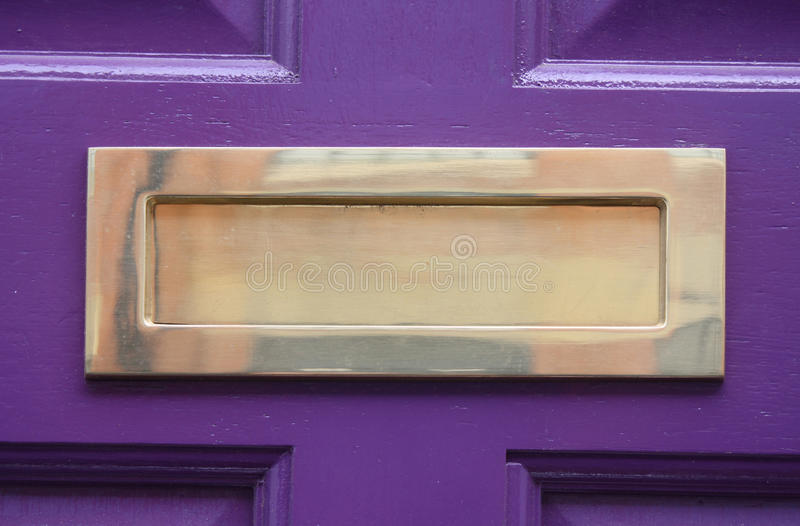 Letterbox d'ottone fotografie stock