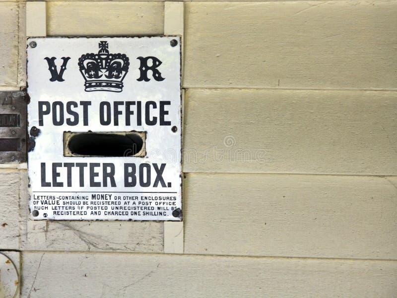 Letterbox di era del Victorian fotografia stock libera da diritti