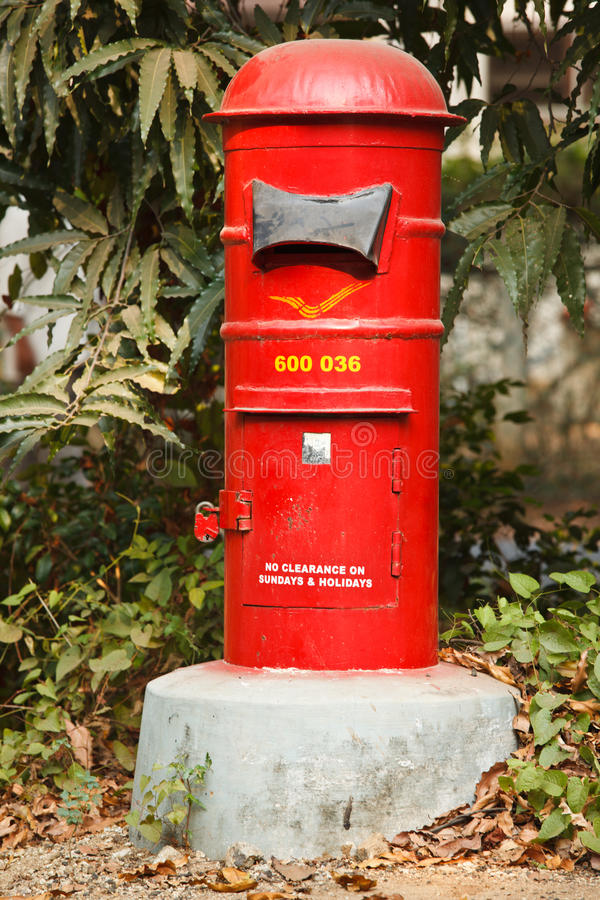 Letterbox indiano fotografia stock