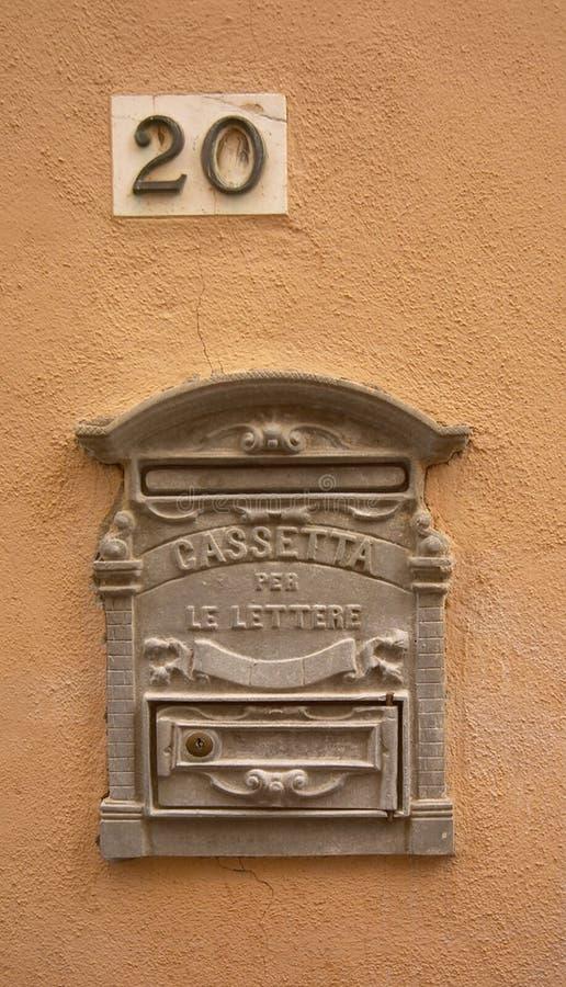 Letterbox italiano fotografia stock libera da diritti