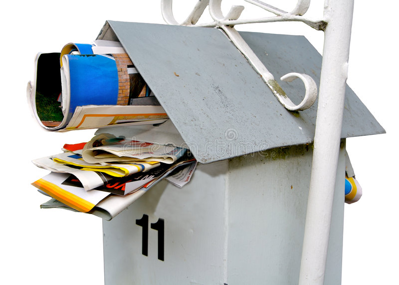 Letterbox Jammed Full Royalty Free Stock Images