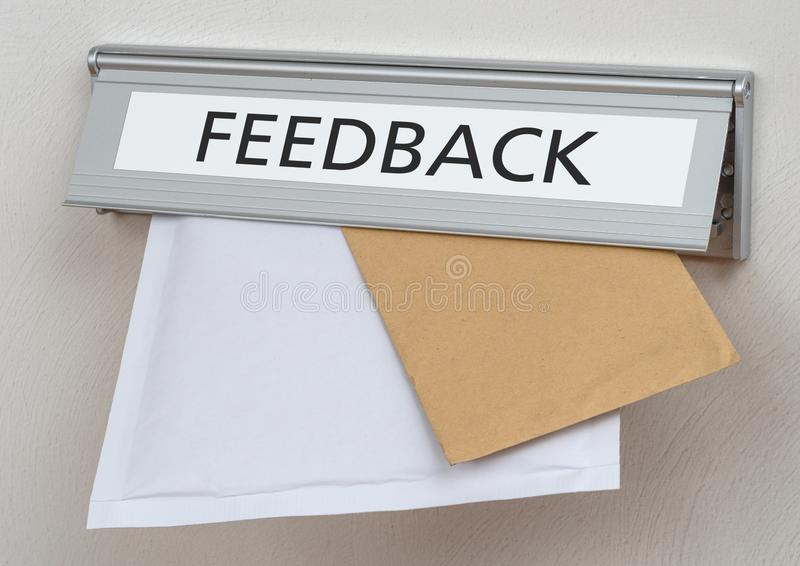 A letterbox with the label Feedback royalty free stock image