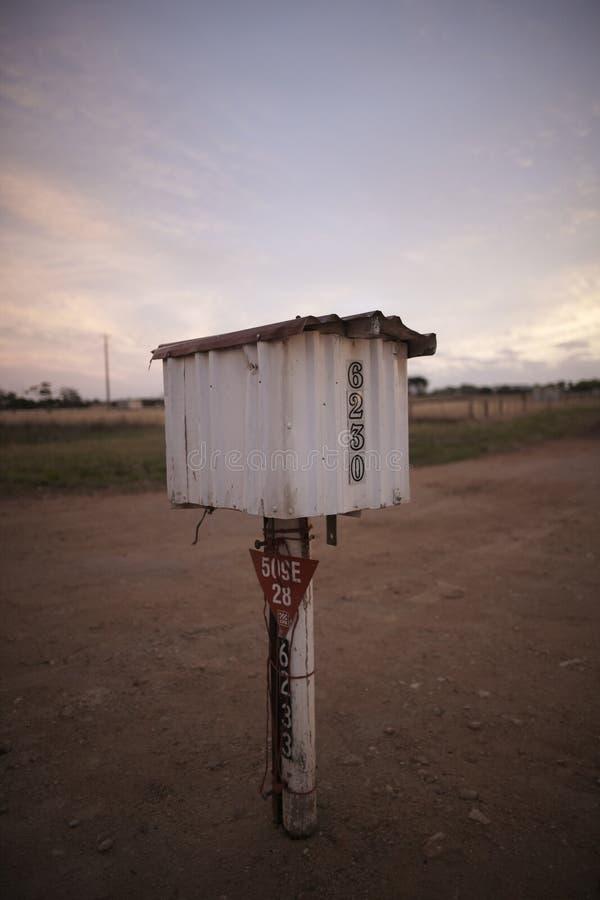 Letterbox in nessun posto immagine stock