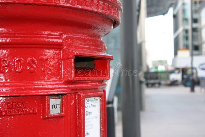 Letterbox rosso fotografia stock
