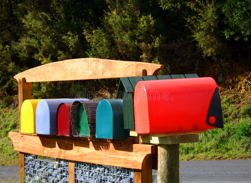 letterboxes obrazy royalty free
