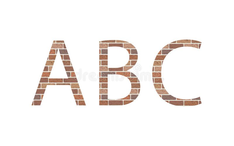 Lettere ABC in mattoni illustrazione di stock
