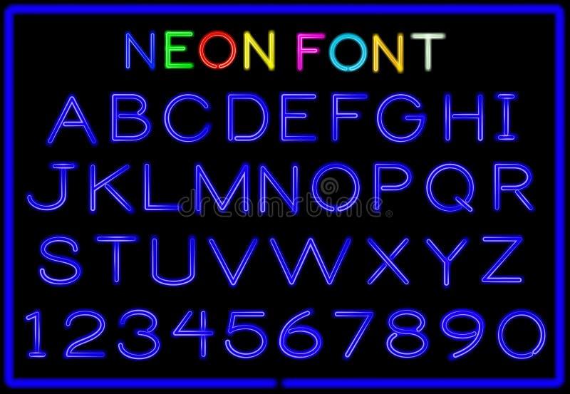 Download Lettere al neon illustrazione vettoriale. Illustrazione di decorazione - 56883643