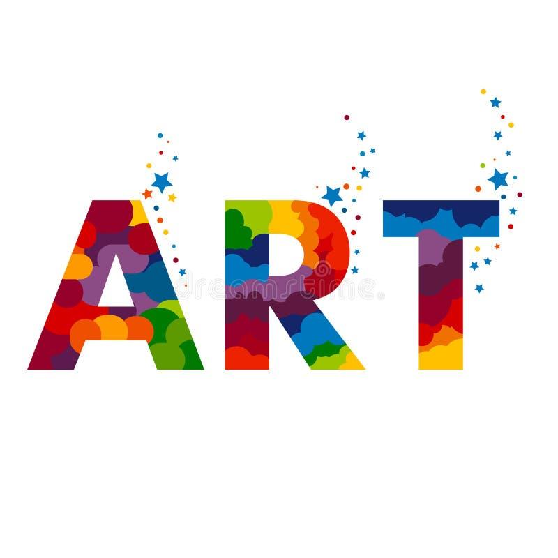 Lettere ART Illustration Aspetti per progettazione del materiale illustrativo o del manifesto illustrazione di stock