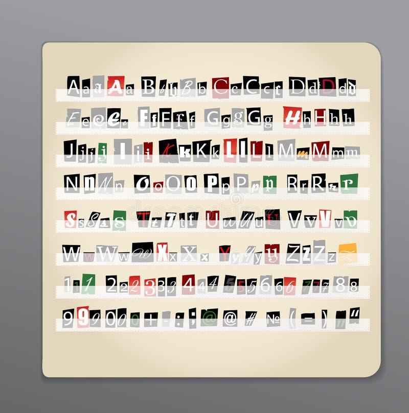 Lettere dal giornale e dagli scomparti illustrazione vettoriale