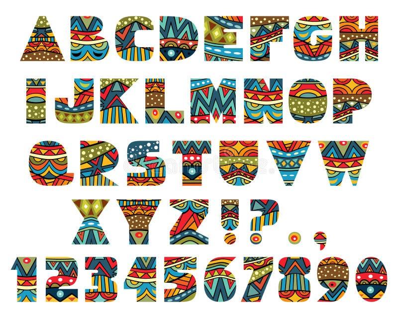 Lettere decorate illustrazione di stock