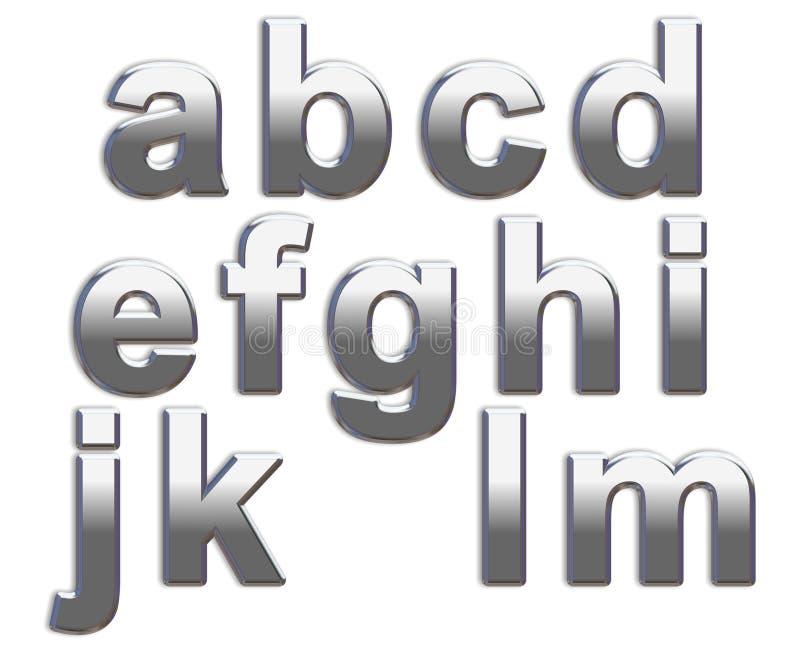 Lettere del bicromato di potassio immagini stock