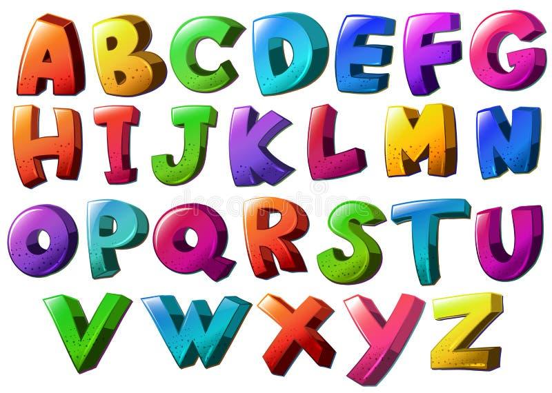 Lettere dell'alfabeto illustrazione vettoriale