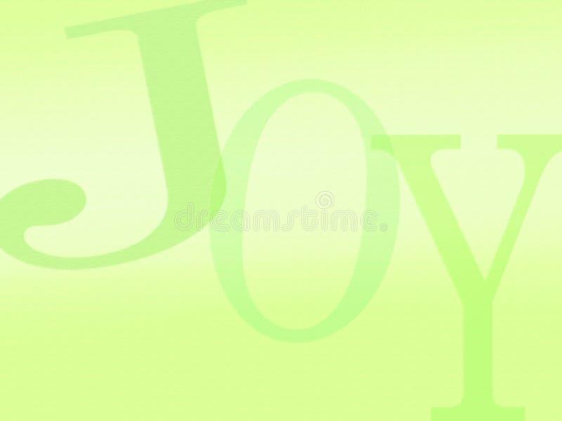 Lettere della priorità bassa di gioia royalty illustrazione gratis