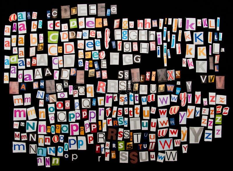 Lettere dello scomparto impostate fotografie stock