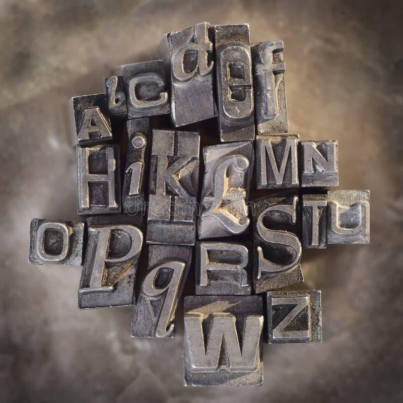Lettere dello scritto tipografico immagine stock