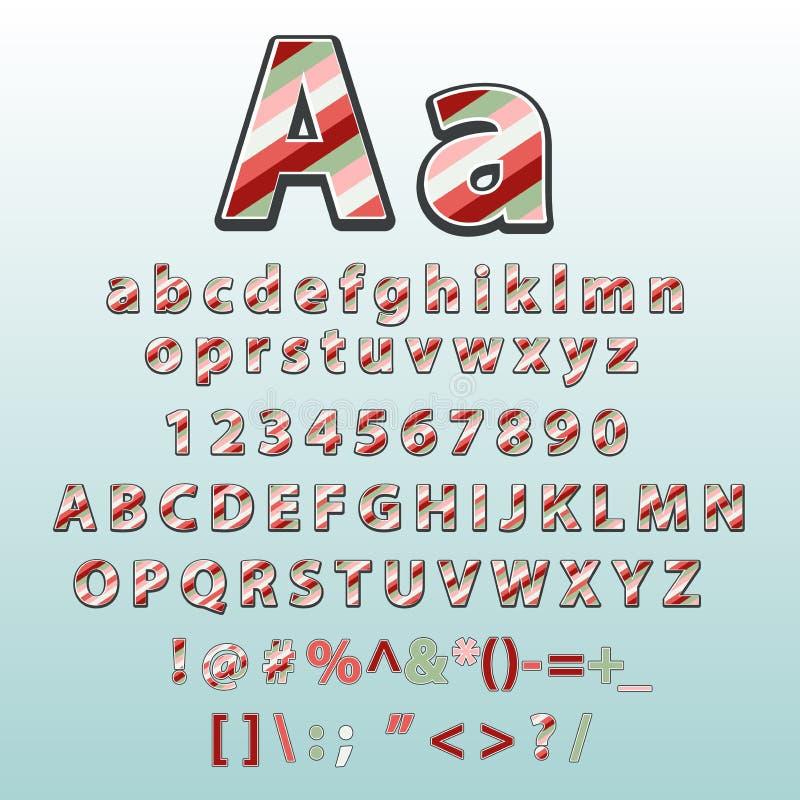 Lettere di alfabeto costituite dalle linee colorate Stile, progettazione di vettore illustrazione vettoriale