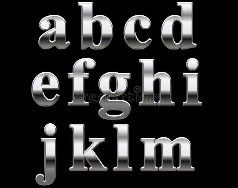 Lettere di alfabeto del bicromato di potassio   fotografia stock