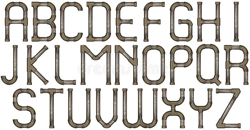 Lettere di alfabeto del tubo immagine stock