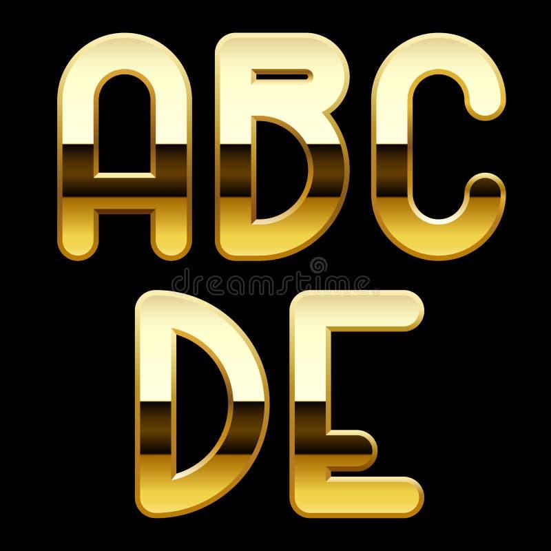 Lettere di alfabeto dell'oro royalty illustrazione gratis