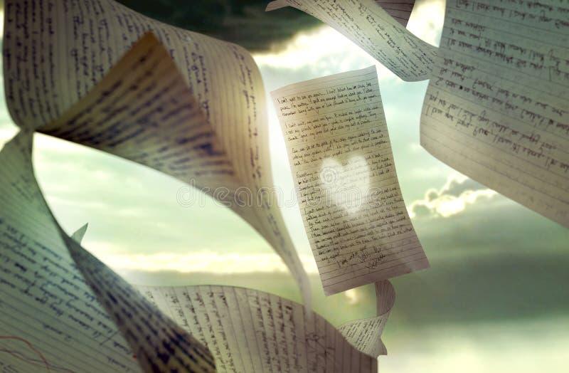 Lettere di amore illustrazione di stock
