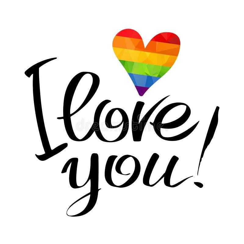 Lettere di amore gay royalty illustrazione gratis